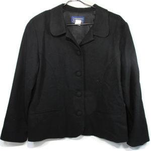 Vintage Willow Ridge Black Wool Blazer Size 16